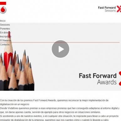 Vodafone Fast Forward Sessions - Awards