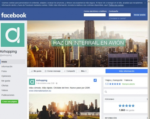 El Facebook de Airhopping