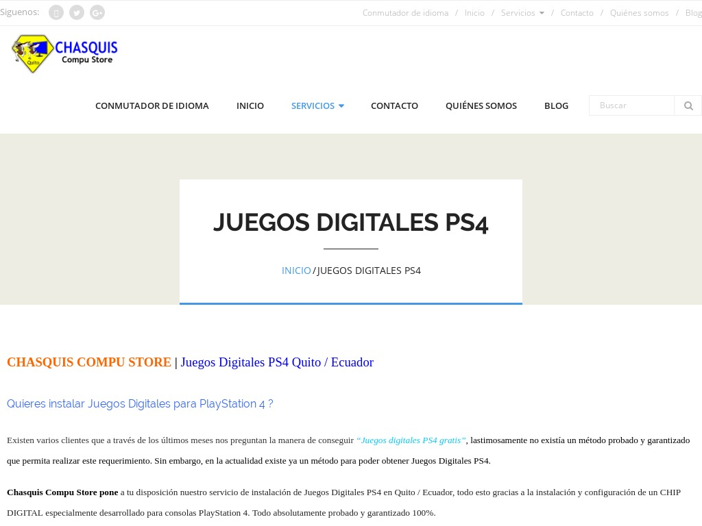 Juegos Digitales PS4 Quito